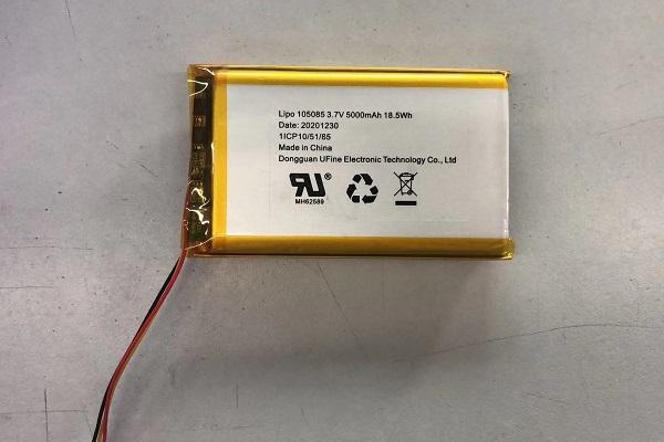 5000mAh UL 인증 리튬 배터리