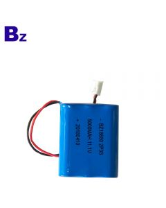 중국 리튬 배터리 제조 업체 도매 미용 기기 배터리 BZ 18650 2P3S 5000mAh 11.1V 리튬 이온 배터리