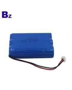스윕 미터에 대한 중국 배터리 제조 업체 맞춤형 배터리 18650 3S 1200mAh 9.6V 충전식 LiFePO4 배터리 팩