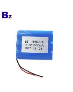 중국 리튬 배터리 공급 업체 맞춤형 원통형 배터리 BZ 18650 3S 2500mAh 11.1V 충전식 리튬 이온 배터리