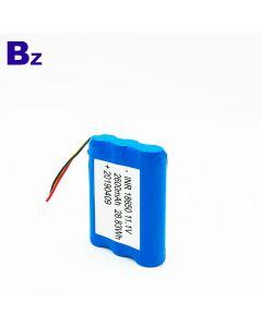 중국 리튬 배터리 공급 업체 사용자 지정 원통형 배터리 BZ 18650 3S 2600mAh 11.1V 충전식 리튬 이온 배터리