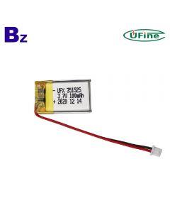 중국 배터리 제조업체 공급 최고의 품질 스마트 팔찌 Lipo 배터리 UFX 351525 100mAh 3.7V 리튬 폴리머 배터리