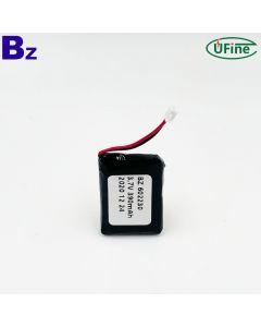 리튬 폴리머 셀 공장 공급 충전식 블루투스 이어폰 Lipo 배터리 UFX 602230 3.7V 390mAh 리튬 폴리머 배터리