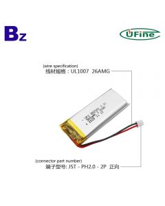 최고 판매 의료 기기 LiFePO4 배터리 UFX 852560 900mAh 3.2V 인산 철 리튬 배터리