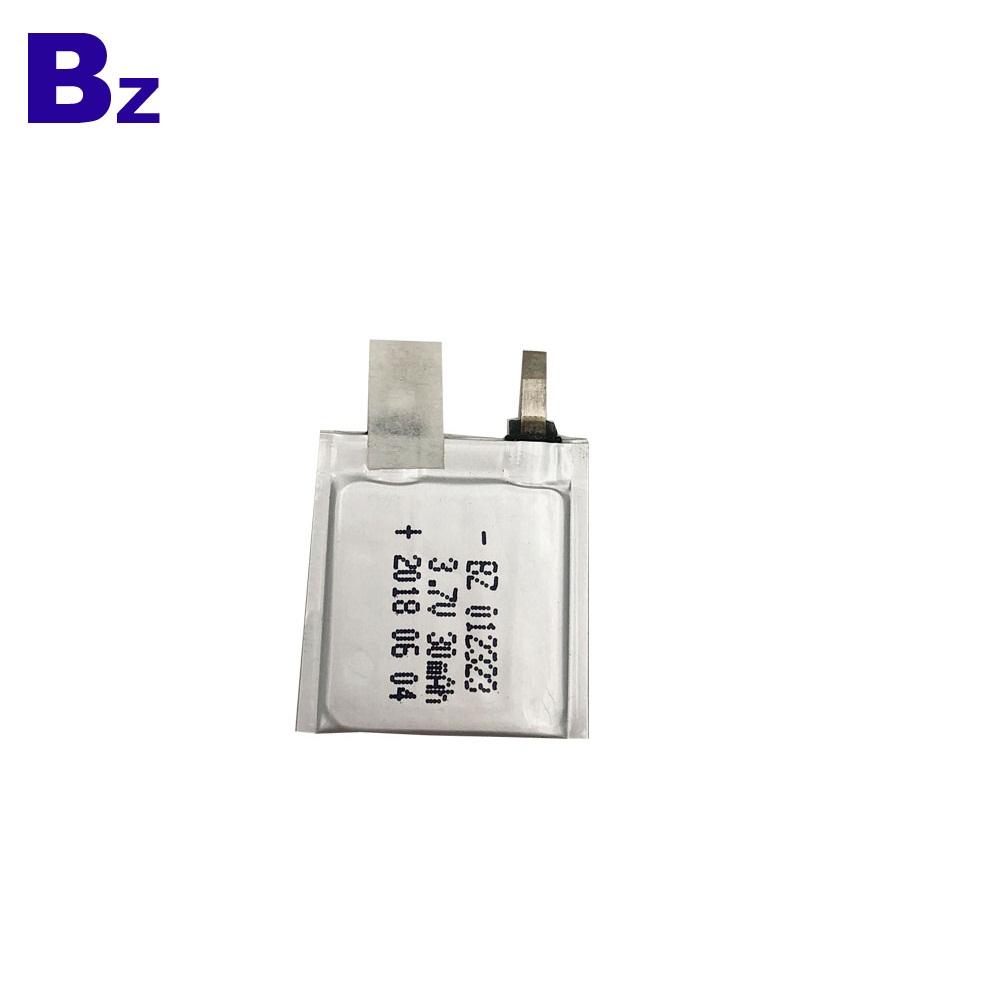 012323 30mAh 3.7V Lipo 배터리