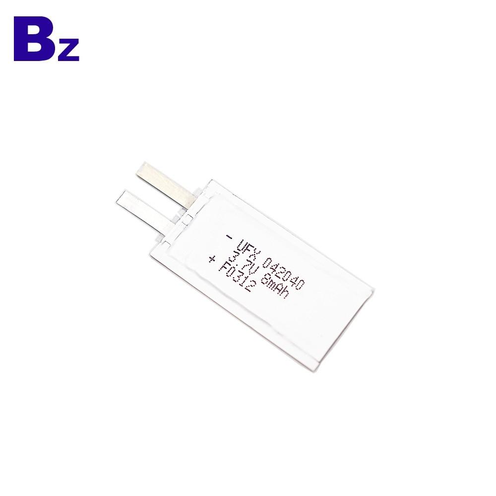 전자 이름 카드 용 8mAh 3.7V 배터리
