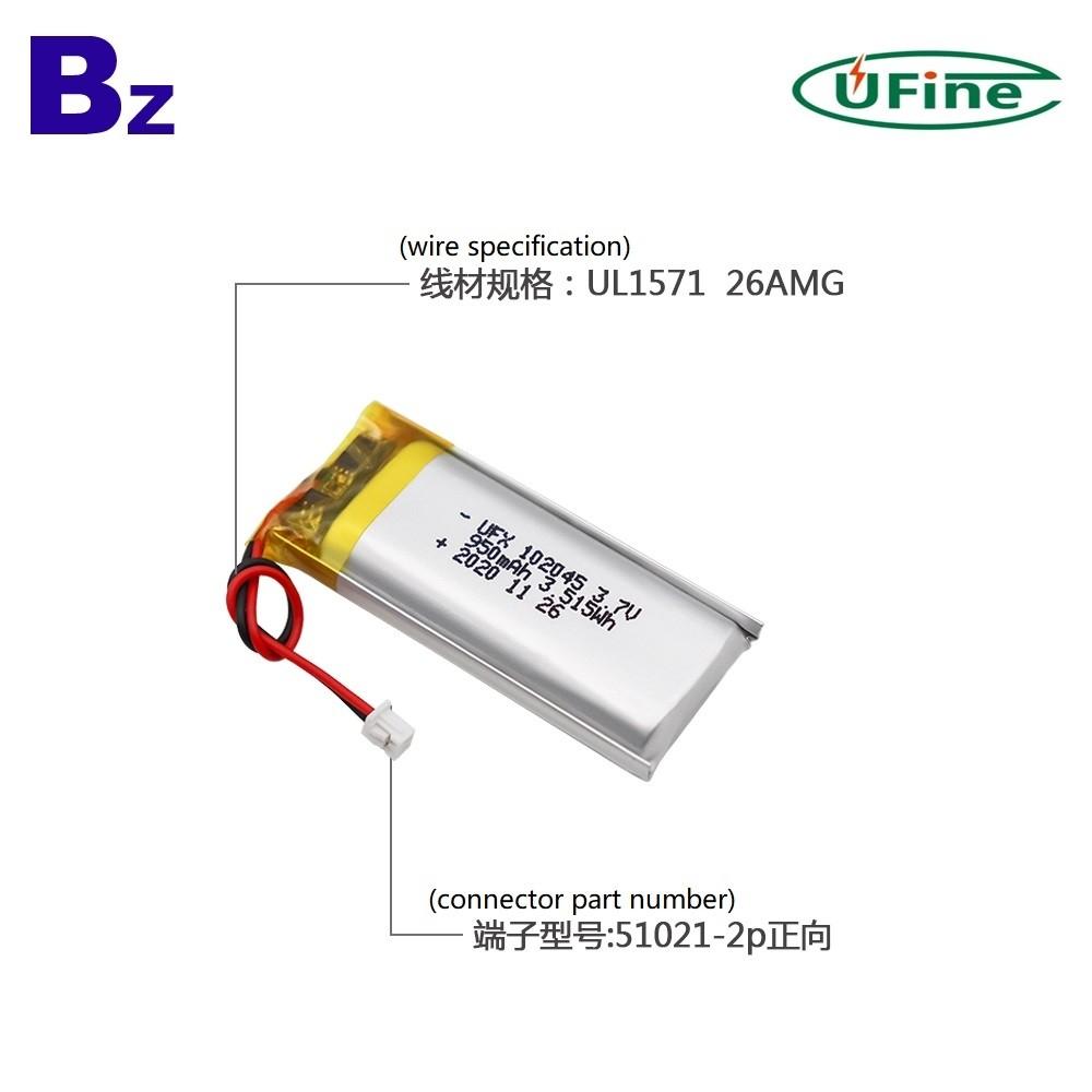 2020 새로운 950mAh 리튬 폴리머 배터리