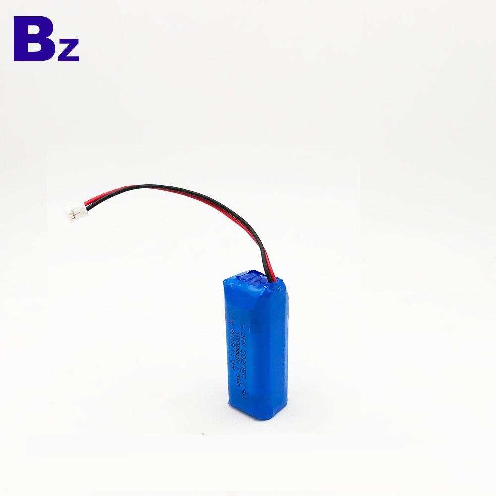 마이크 용 1000mAh 7.4V 폴리머 리튬 이온 배터리