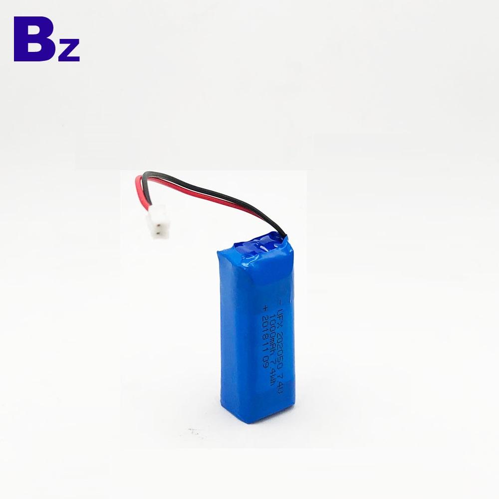 1000mAh 7.4V KC 인증 폴리머 리튬 이온 배터리