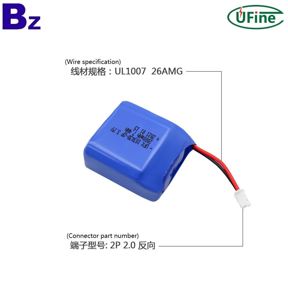 2021 년 뜨거운 판매 미용 제품 2000mAh 리튬 폴리머 배터리