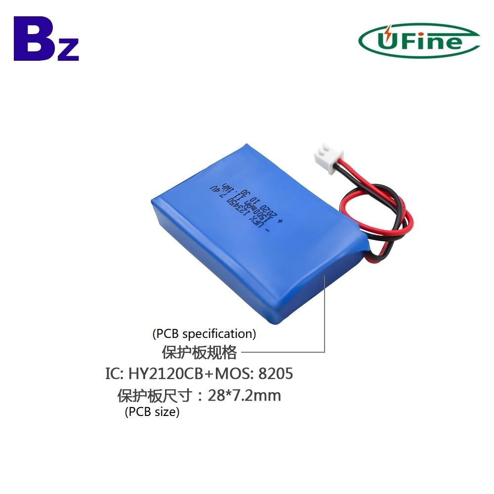 123450-2S 1500mAh 7.4V 충전식 리튬 폴리머 배터리