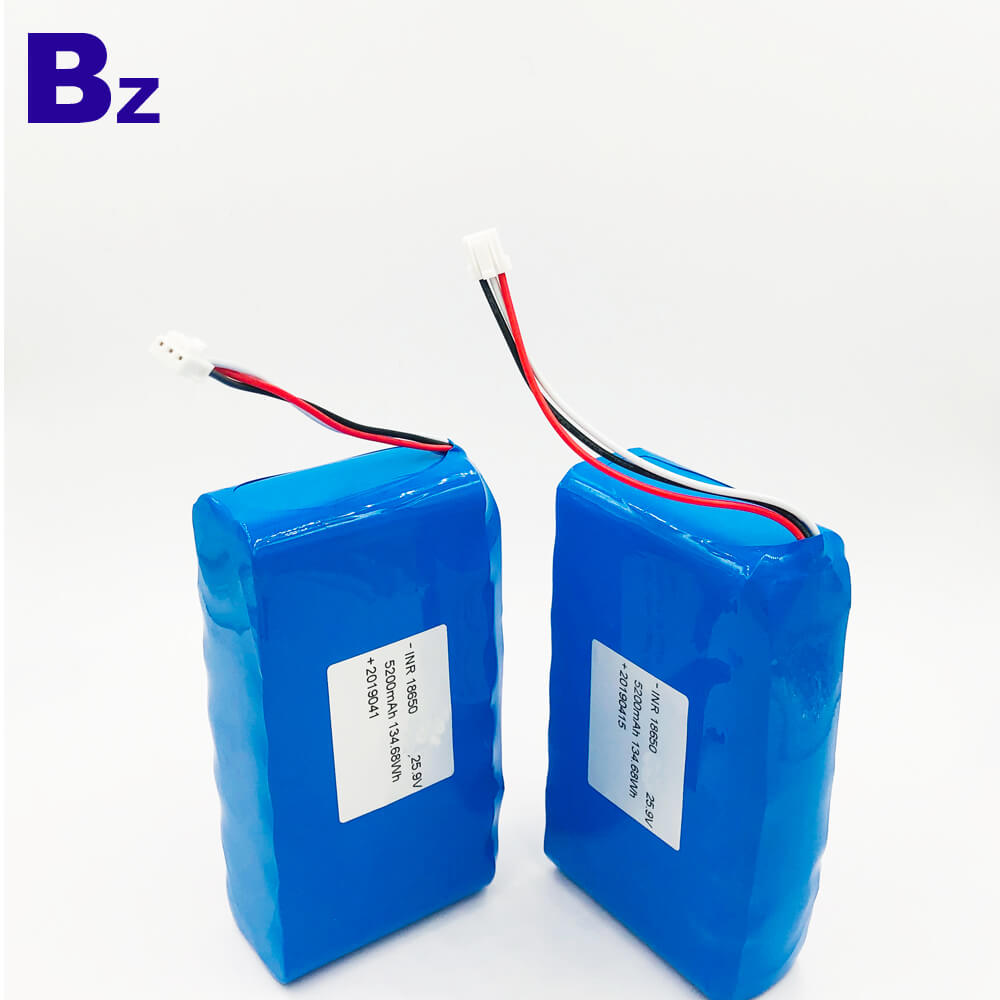 18650 7S2P 25.9V 5200mAh 리튬 이온 배터리 팩
