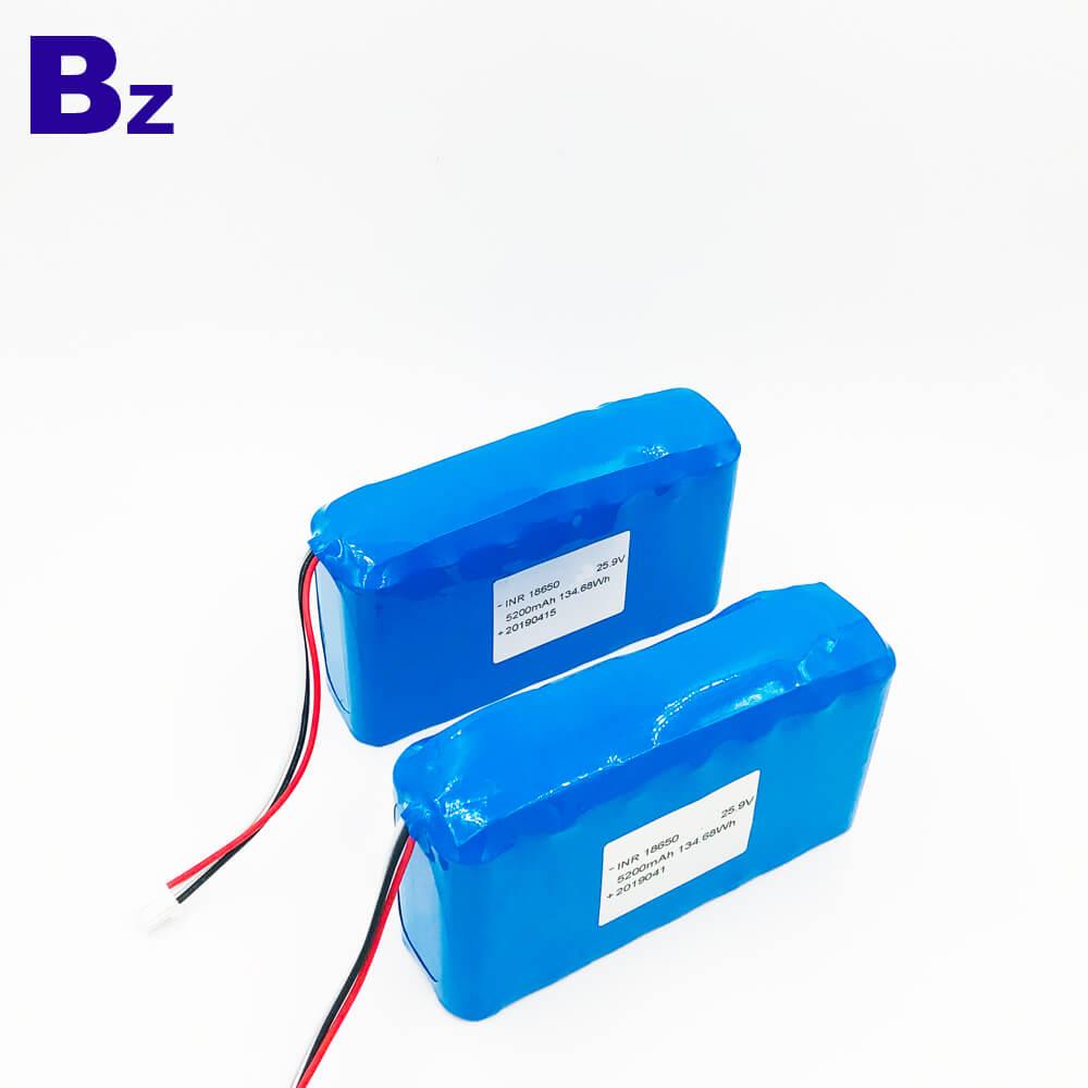 18650 7S2P 25.9V 5200mAh 리튬 이온 배터리