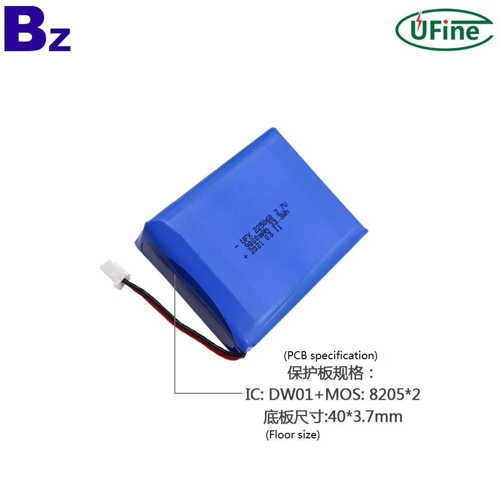225060 3.7V 9000mAh 리튬 폴리머 배터리