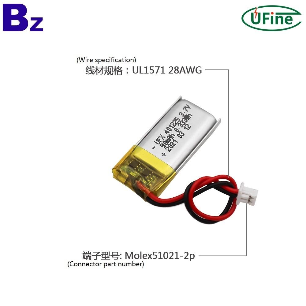 중국 리튬 전지 제조업체 공급 90mAh 리튬 폴리머 배터리