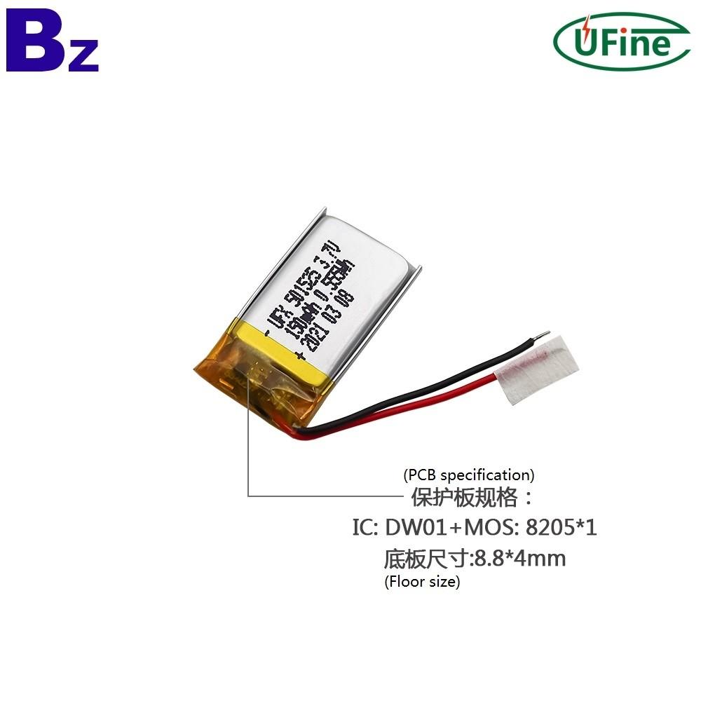 501525 3.7V 150mAh 리튬 폴리머 배터리