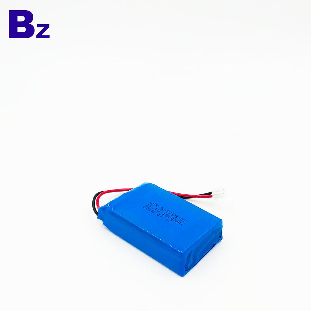 503759 1200mAh 11.1V 리튬 이온 폴리머 배터리 팩