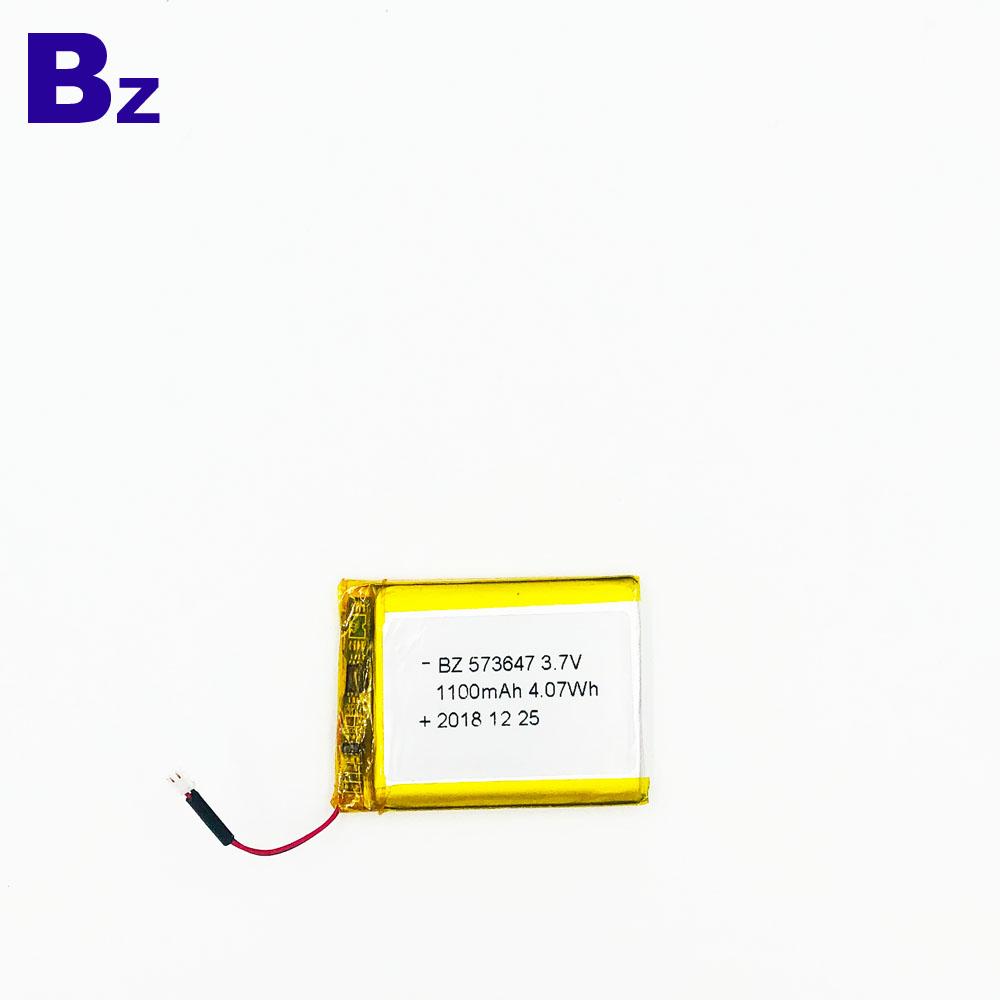 1100mAh 3.7V 리튬 이온 배터리