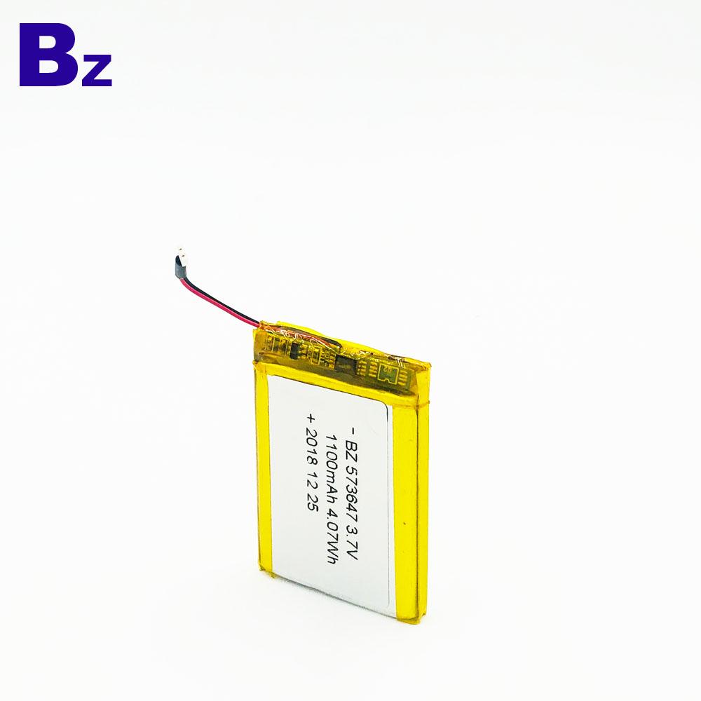 573647 1100mAh 3.7V 리튬 이온 배터리