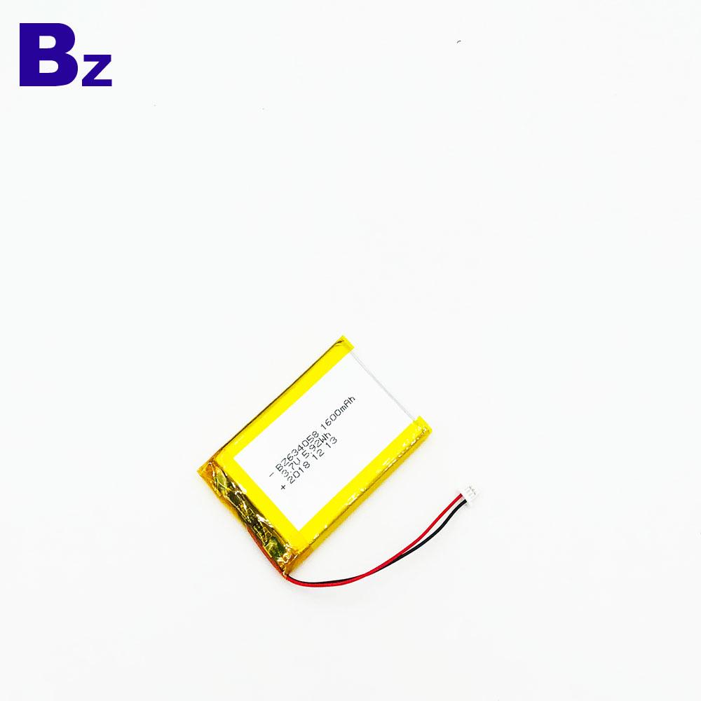 BZ 634058 1600mAh 3.7V Lipo 배터리