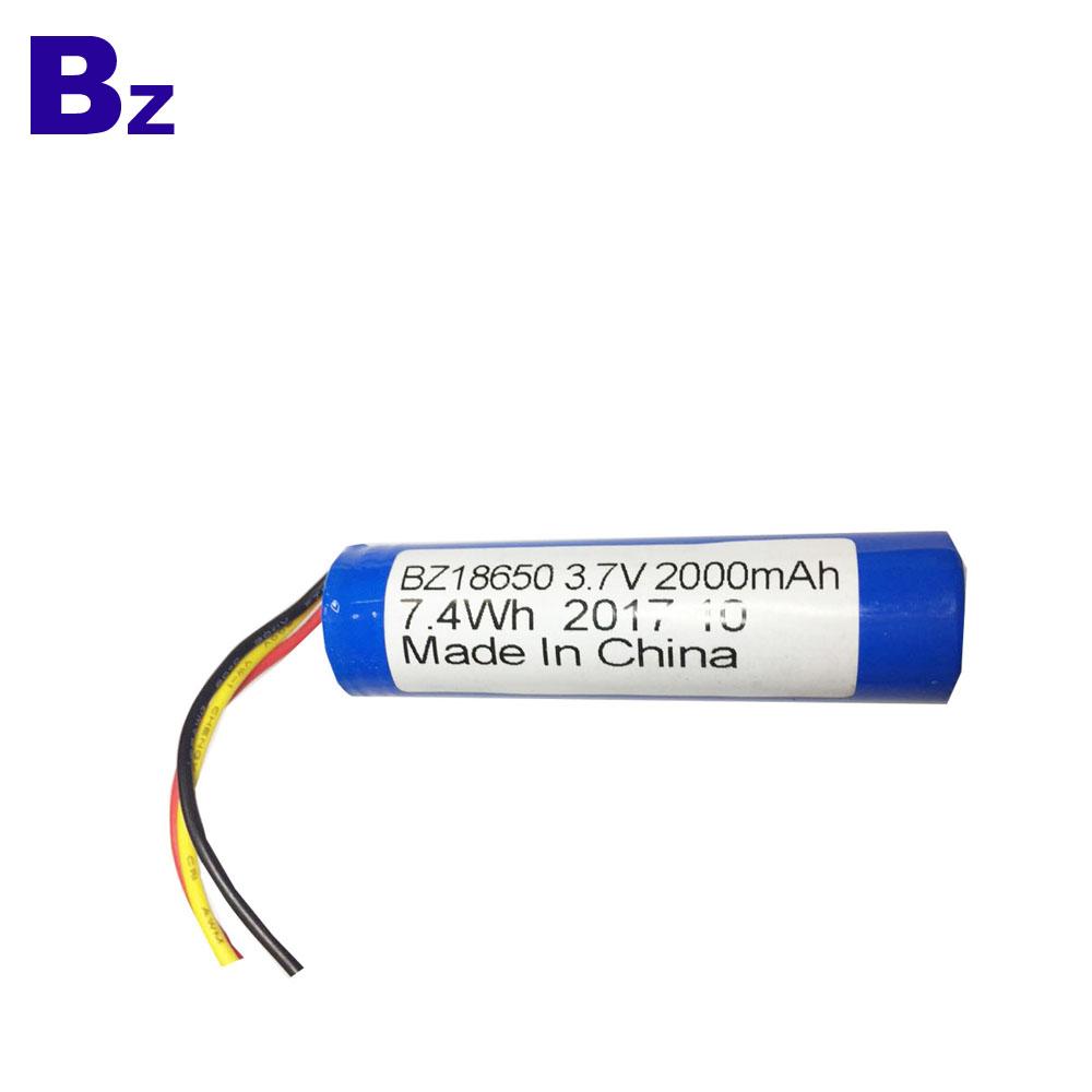 2000mah 3.7V 18650 배터리