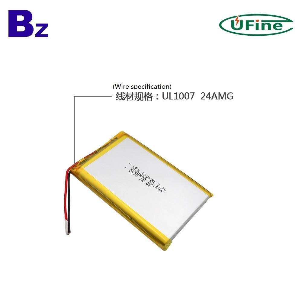 126090 8000mAh 3.7V 리튬 폴리머 배터리