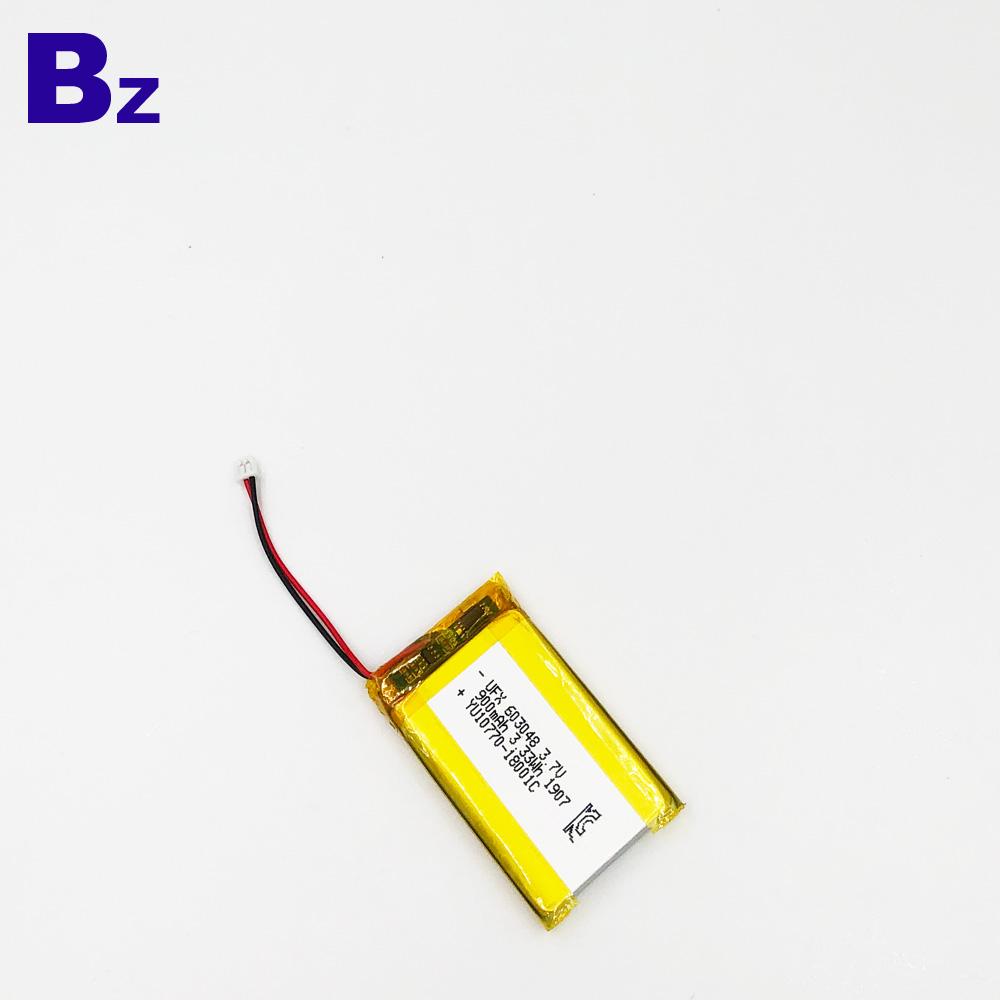 603048 900mAh 3.7V 리튬 폴리머 배터리