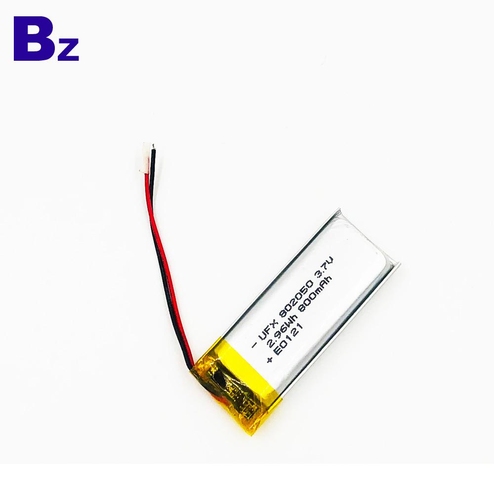 800mAh 3.7V 리튬 폴리머 배터리