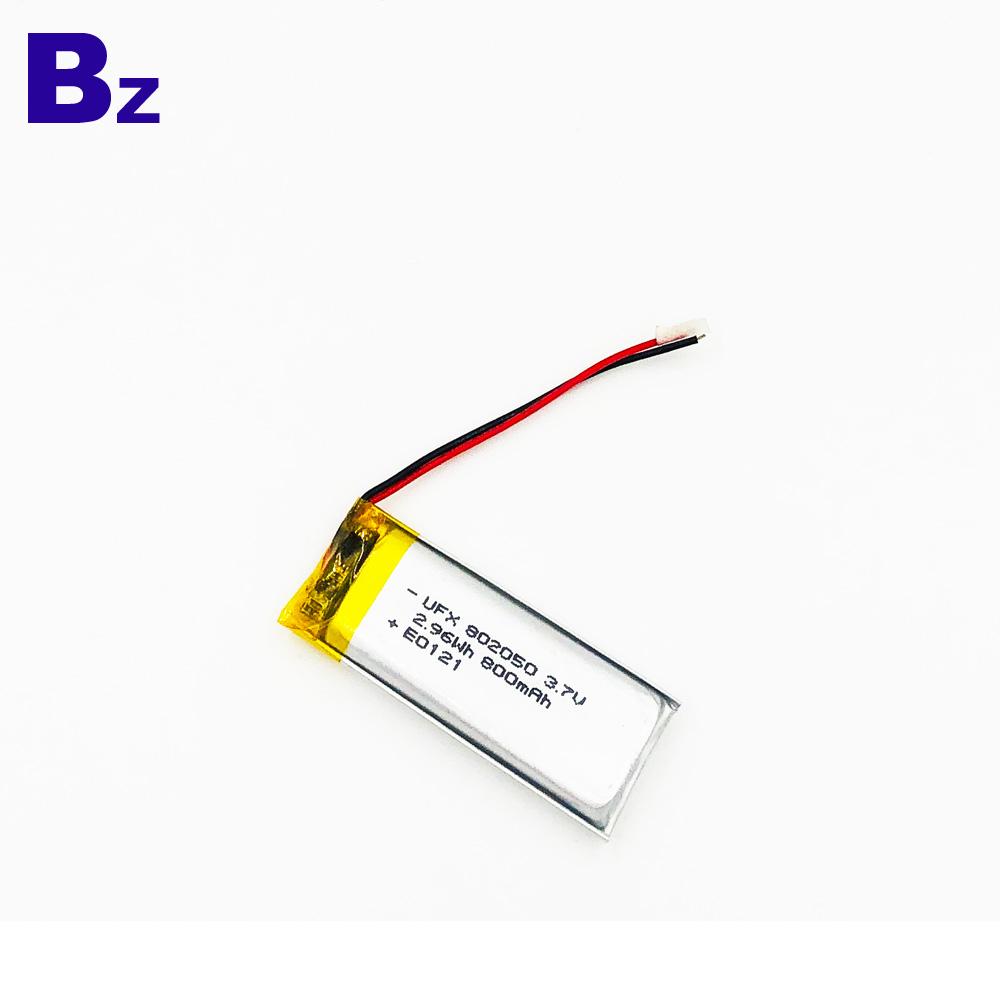802050 800mAh 3.7V 리튬 폴리머 배터리