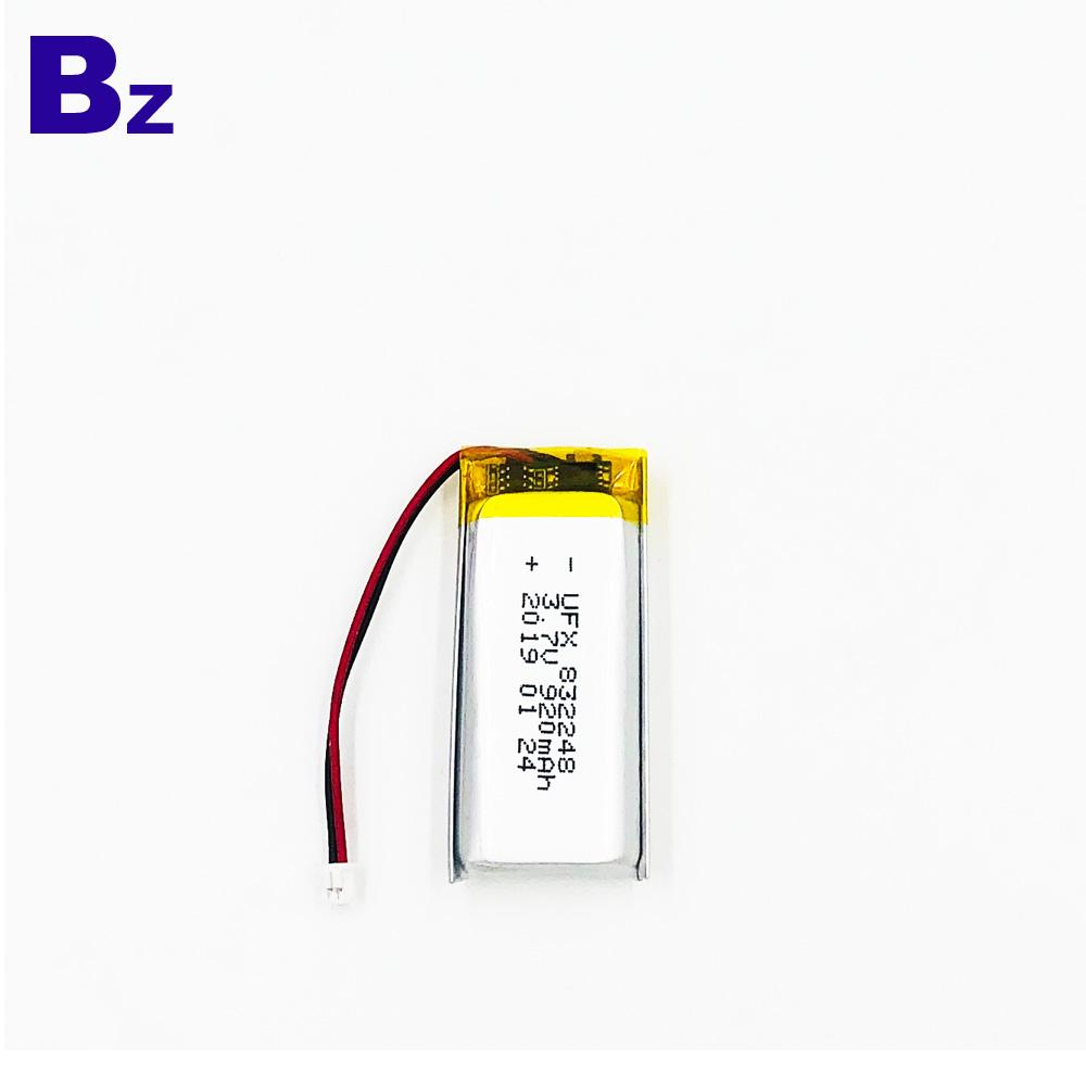 832248 920mAh 리튬 폴리머 배터리
