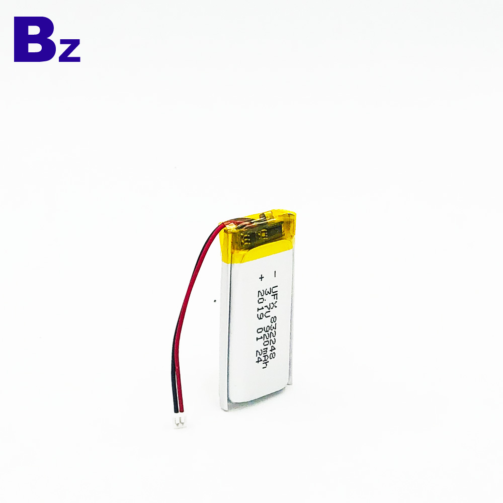 3.7V KC, UL1642 및 UN38.3 인증을 획득 한 리튬 폴리머 배터리