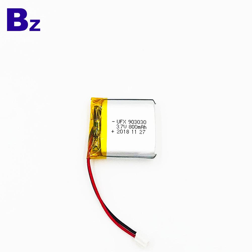 903030 800mAh 3.7V 리튬 폴리머 배터리