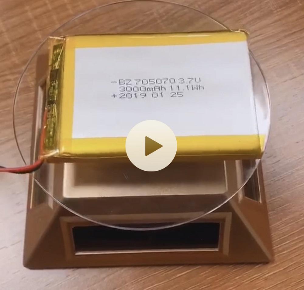 705070 3000mAh 3.7V Lipo 배터리