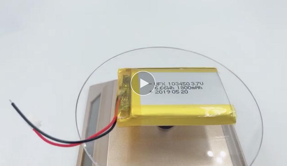 모바일 WIFI 기기 용 KC 배터리 UFX 103450 1800mAh 3.7V Lipo 배터리